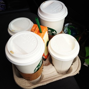 The daily Starbucks run was our splurge.