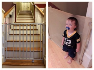 Top and bottom stair gates.