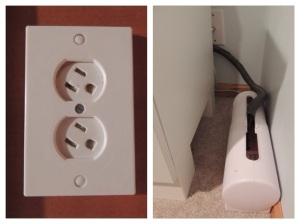 Swivel covers and power strip covers keep fingers and more out of sockets.