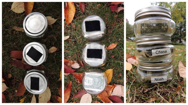 Super strong Velcro enables the jars to stack vertically.