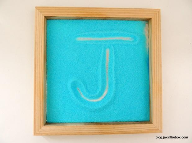 Salt Tray for early handwriting activities @ blog.jaxinthebox.com