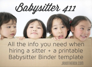 Babysitter 411 @ jaxinthebox.com
